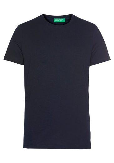 United Colors of Benetton T-Shirt unifarben meliert