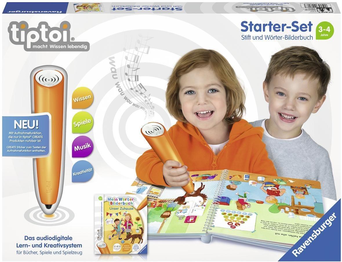 Ravensburger Starter-Set tiptoi® CREATE Stift und Buch, »Mein Wörter-Bilderbuch: Unser Zuhause«