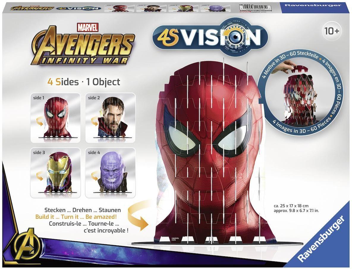 Ravensburger 3D Steckspiel, »4S Vision Avengers Infinity War Iron Man & Co.«
