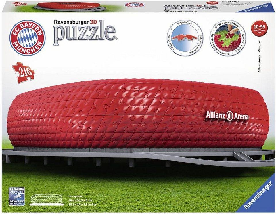 ravensburger 3d puzzle 216 teile allianz arena otto. Black Bedroom Furniture Sets. Home Design Ideas