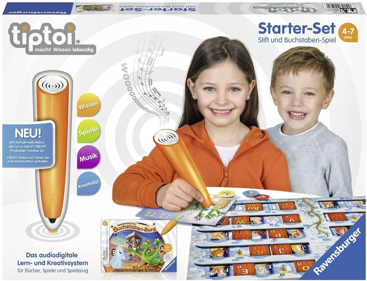 Ravensburger Starter-Set tiptoi® CREATE Stift und Spiel, »Schatzsuche in der Buchstabenburg«