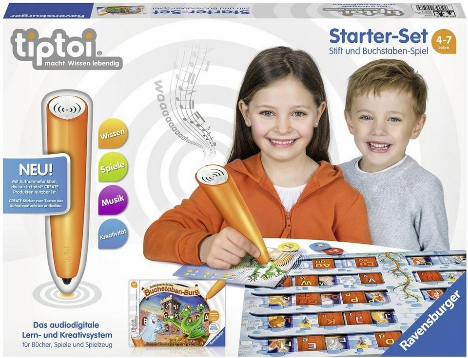 Ravensburger Starter-Set tiptoi® CREATE Stift und Spiel,  Schatzsuche in der Buchstabenburg  online kaufen