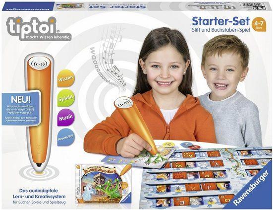 Ravensburger Spiel, »tiptoi® Starter-Set: Schatzsuche in der Buchstabenburg«, mit CREATE Stift