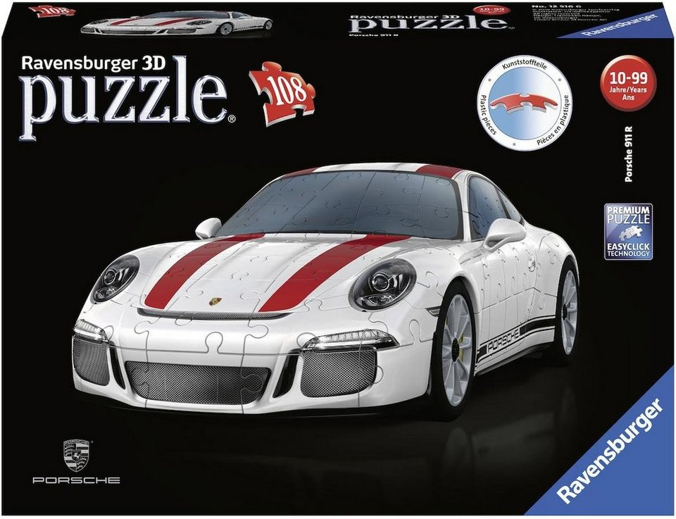 c446611b3 Ravensburger 3D-Puzzle »Porsche 911 R«, 108 Teilig, Easyclick Technology