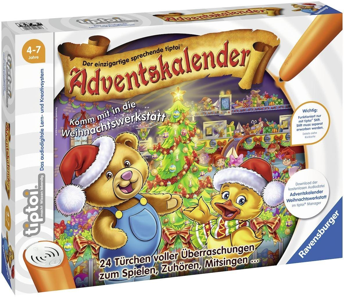 Ravensburger Adventskalender tiptoi®, »Komm mit in die Weihnachtswerkstatt«