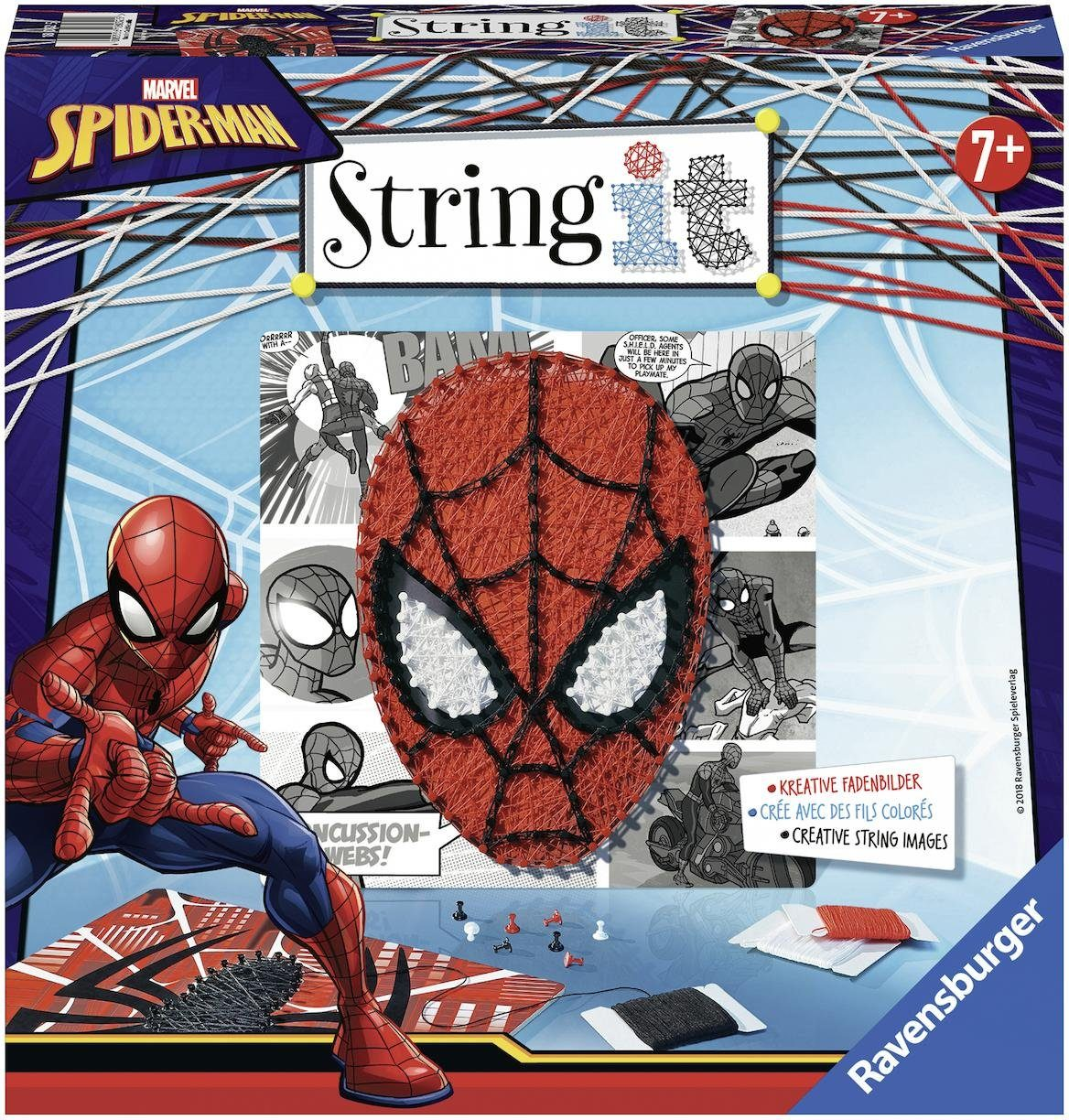 Ravensburger Kreativset Fadenbilder, »String it - Spiderman«