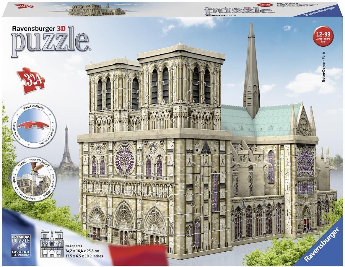 Ravensburger 3D Puzzle, 324 Teile, »Notre Dame de Paris«