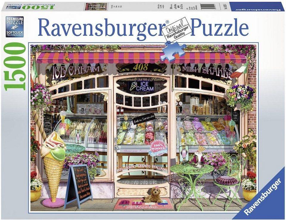 Ravensburger Puzzle, 1500 Teile,  Ice Cream Shop