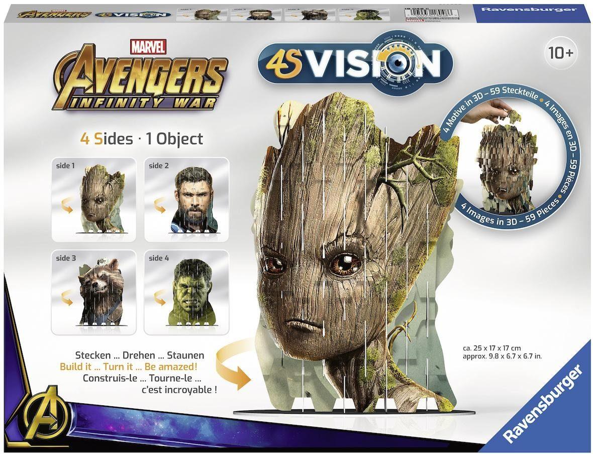 Ravensburger 3D Steckspiel, »4S Vision Avengers Infinity War Groot & Co.«