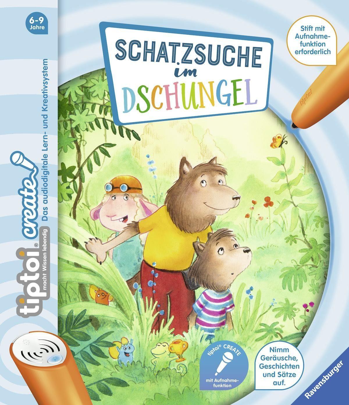 Ravensburger Buch tiptoi® CREATE, »Schatzsuche im Dschungel«