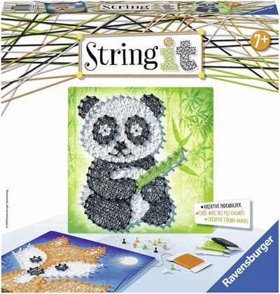 Ravensburger Kreativset »String it Midi Panda & Fox«, (Set), Made in Europe