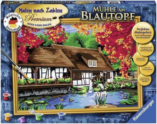 Ravensburger Malen nach Zahlen »Mühle am Blautopf«