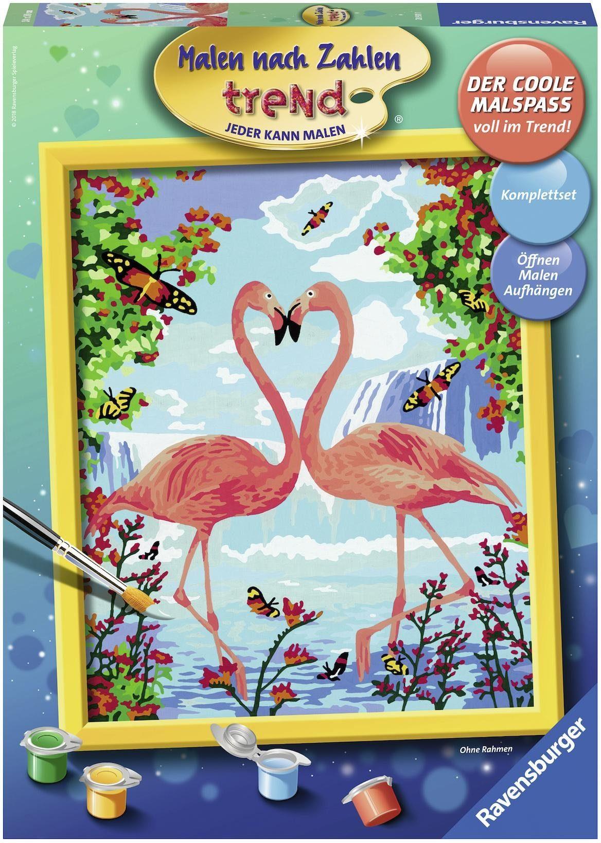 Ravensburger Malen nach Zahlen, »Flamingo Love«