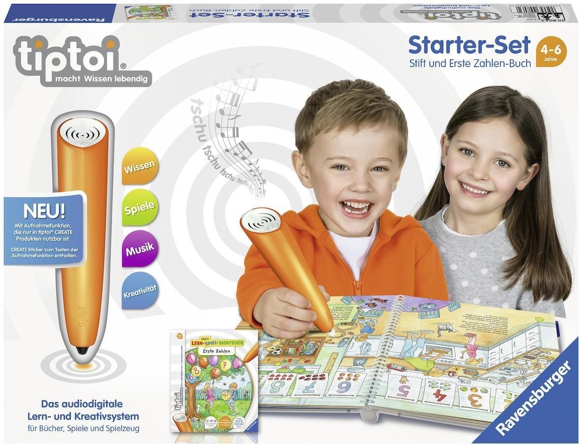 Ravensburger Starter-Set tiptoi® CREATE Stift u. Buch, »Mein Lern-Spiel-Abenteuer: Erste Zahlen«