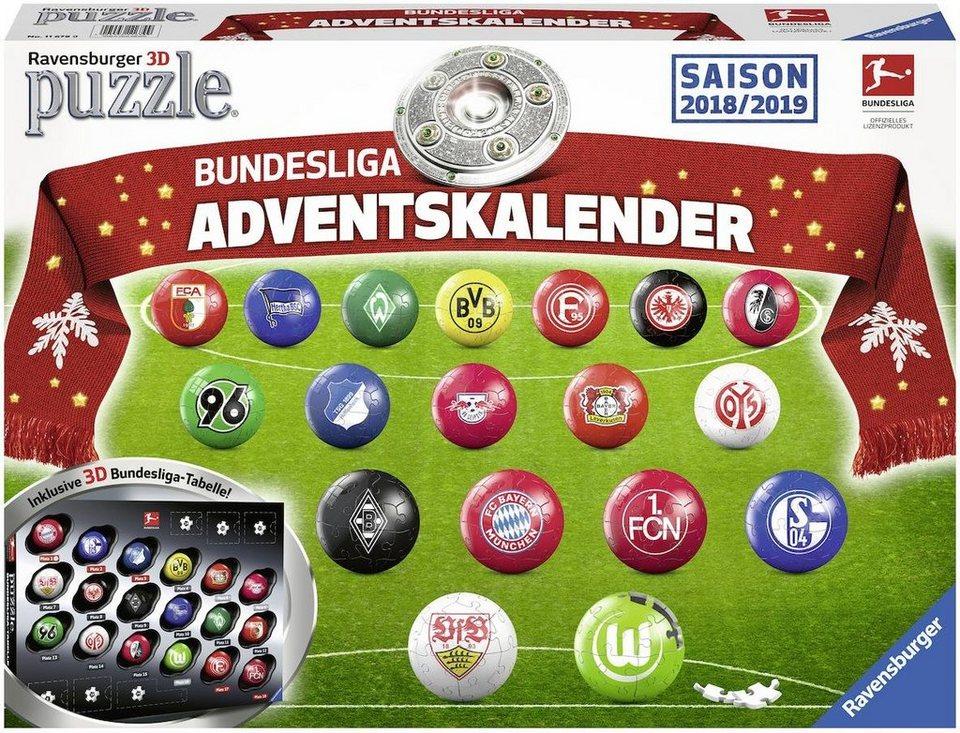 Ravensburger 3D Puzzle, 486 Teile, »Adventskalender Bundesliga ...
