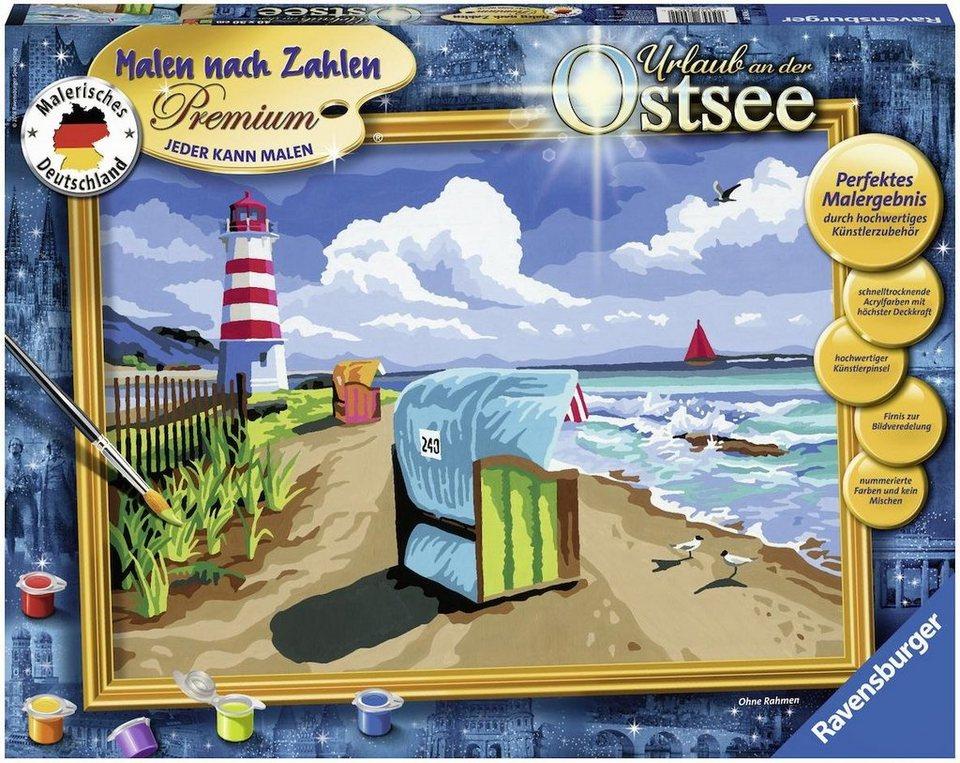 Ravensburger Malen Nach Zahlen Urlaub An Der Ostsee Online Kaufen Otto