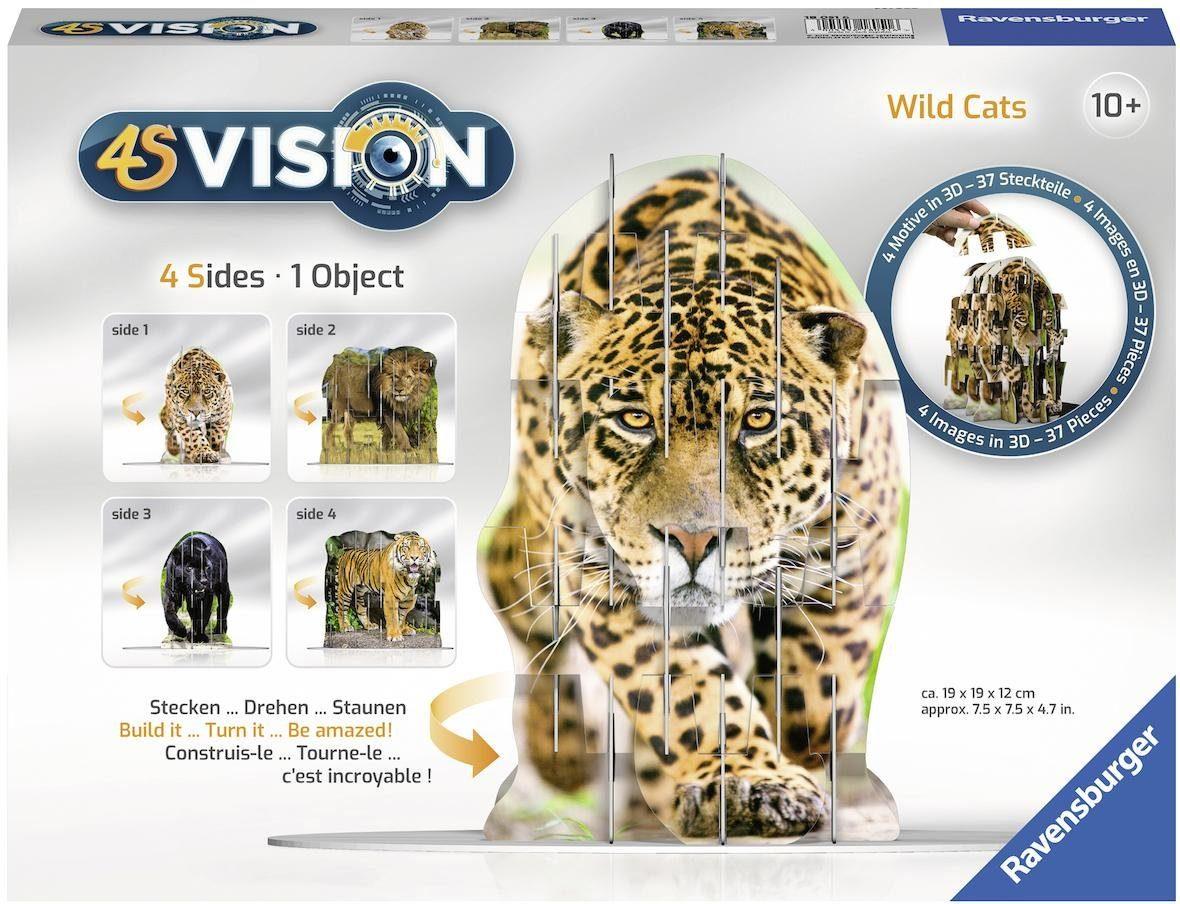 Ravensburger 3D Steckspiel, »4S Vision Wild Cats«