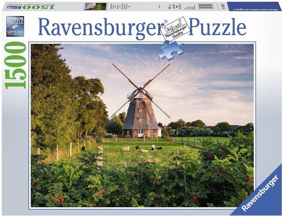 Ravensburger Puzzle, 1500 Teile,  Windmühle an der Ostsee  online kaufen
