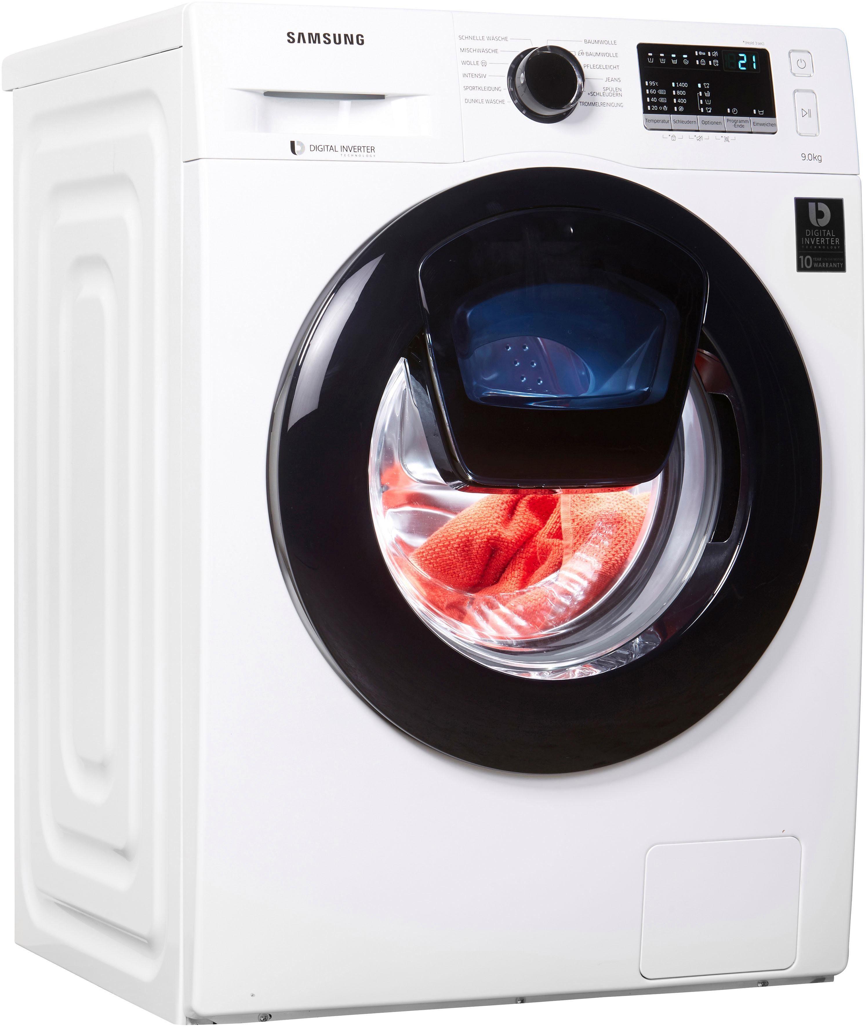 Samsung Waschmaschine WW4500 WW90K44205W/EG, 9 kg, 1400 U/Min, AddWash