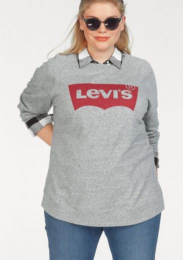 print Klassischer Levi's® Plus »plus Graphic Logo Relaxed Crew Batwing Sweatshirt Batwing« vqpxBwF