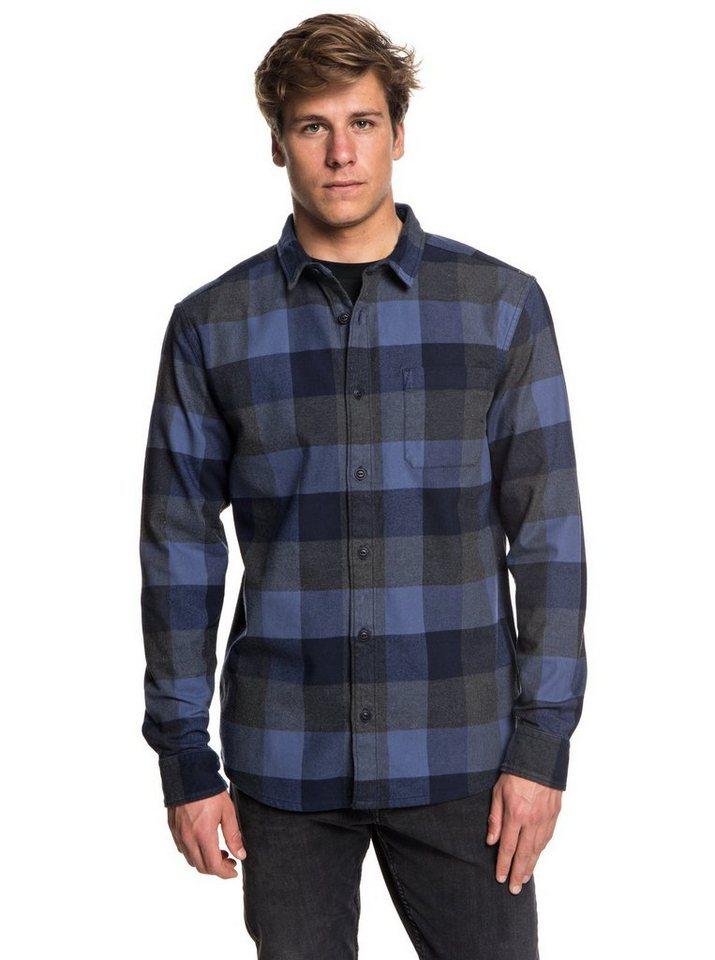 Herren Quiksilver Wasserabweisendes langärmliges Hemd Stretch Flannel blau | 03613373699039