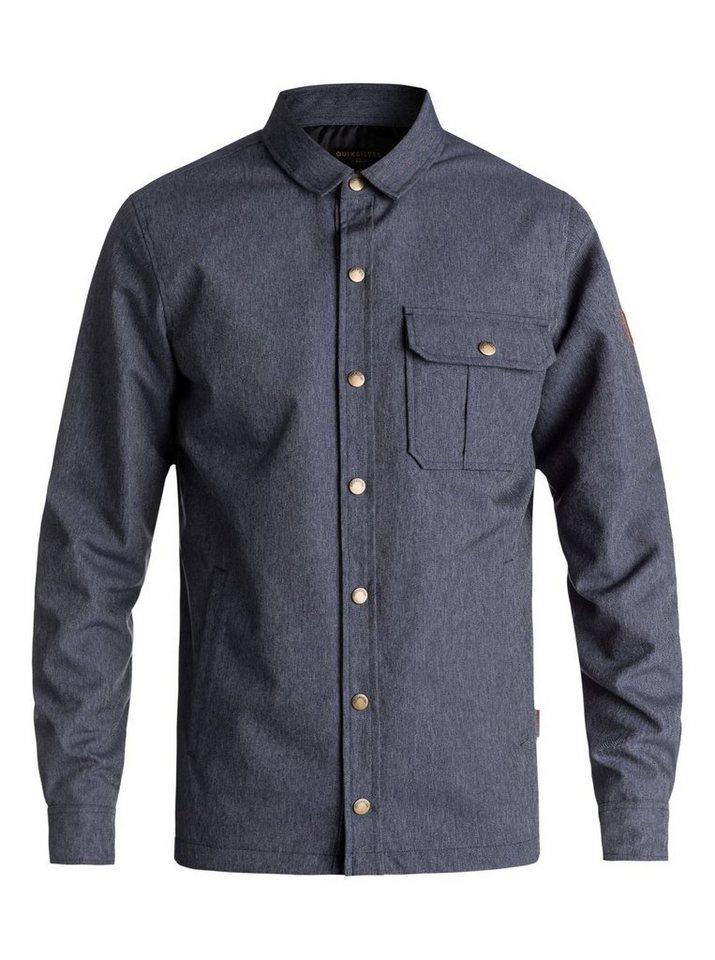 Herren Quiksilver Wasserdichtes Überhemd Wildcard Denim blau | 03613373686565