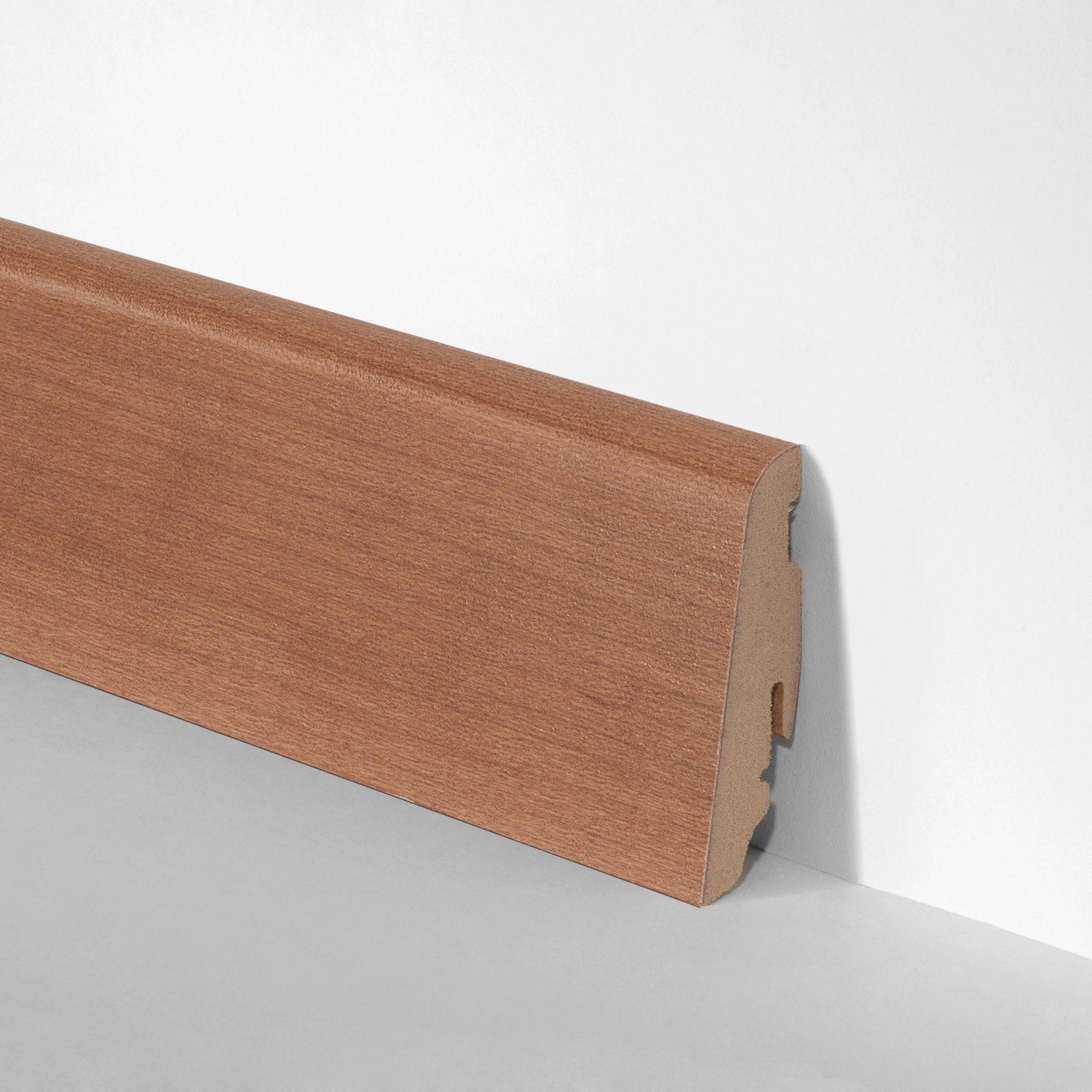 BODENMEISTER Set: Sockelleiste »Echtholz furniert Kirsche«, 3er-Pack, Höhe: 5,8 cm