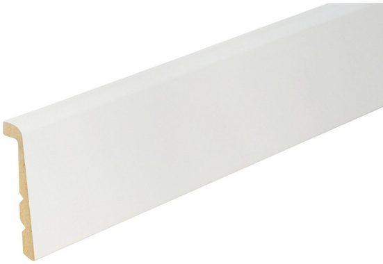 BODENMEISTER Set: Sockelleiste »Renovierungsleiste weiß«, 2er-Pack, Höhe: 9,2 cm 2-fach kürzbar