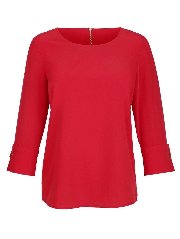 Alba Moda Bluse in auffälliger Farbe