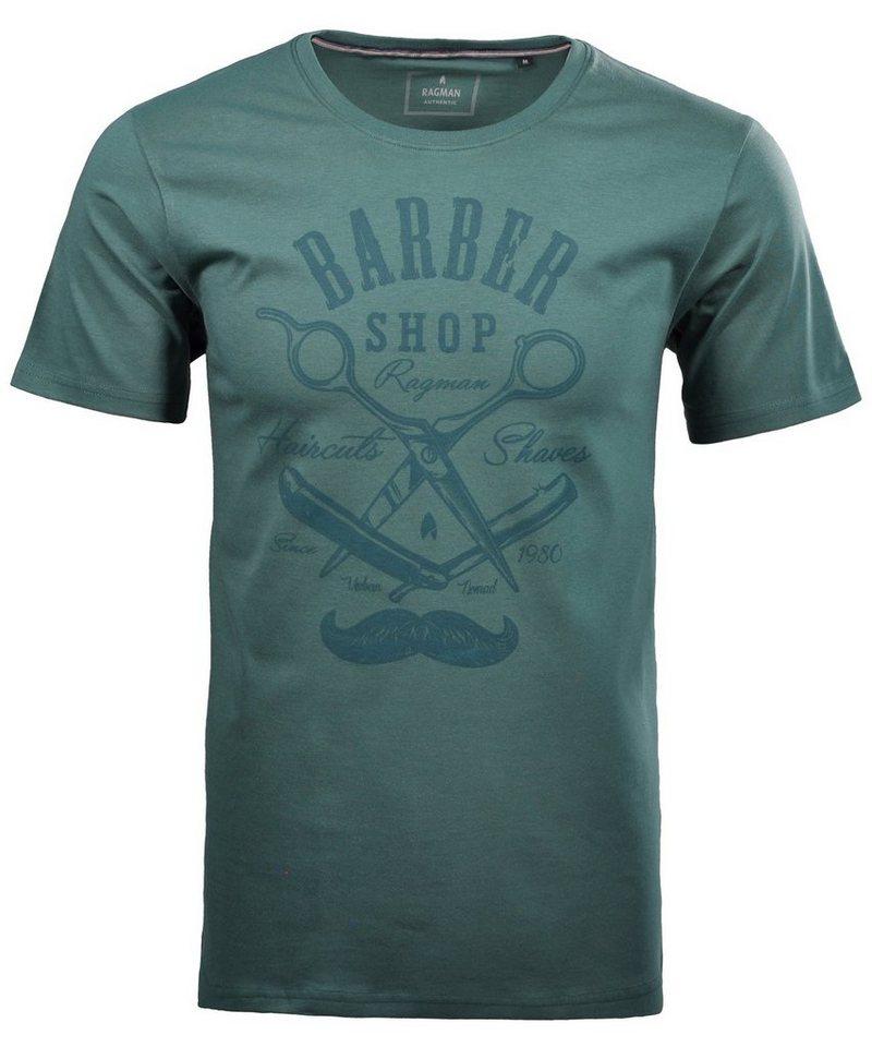 RAGMAN T-Shirt | Bekleidung > Shirts > Sonstige Shirts | Grün | RAGMAN