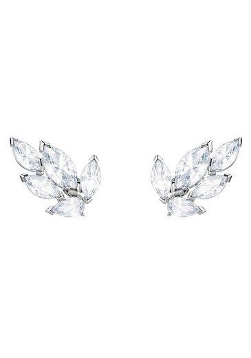 Swarovski Paar Ohrstecker »Louison, weiss, rhodiniert, 5446025«, mit Swarovski® Kristallen