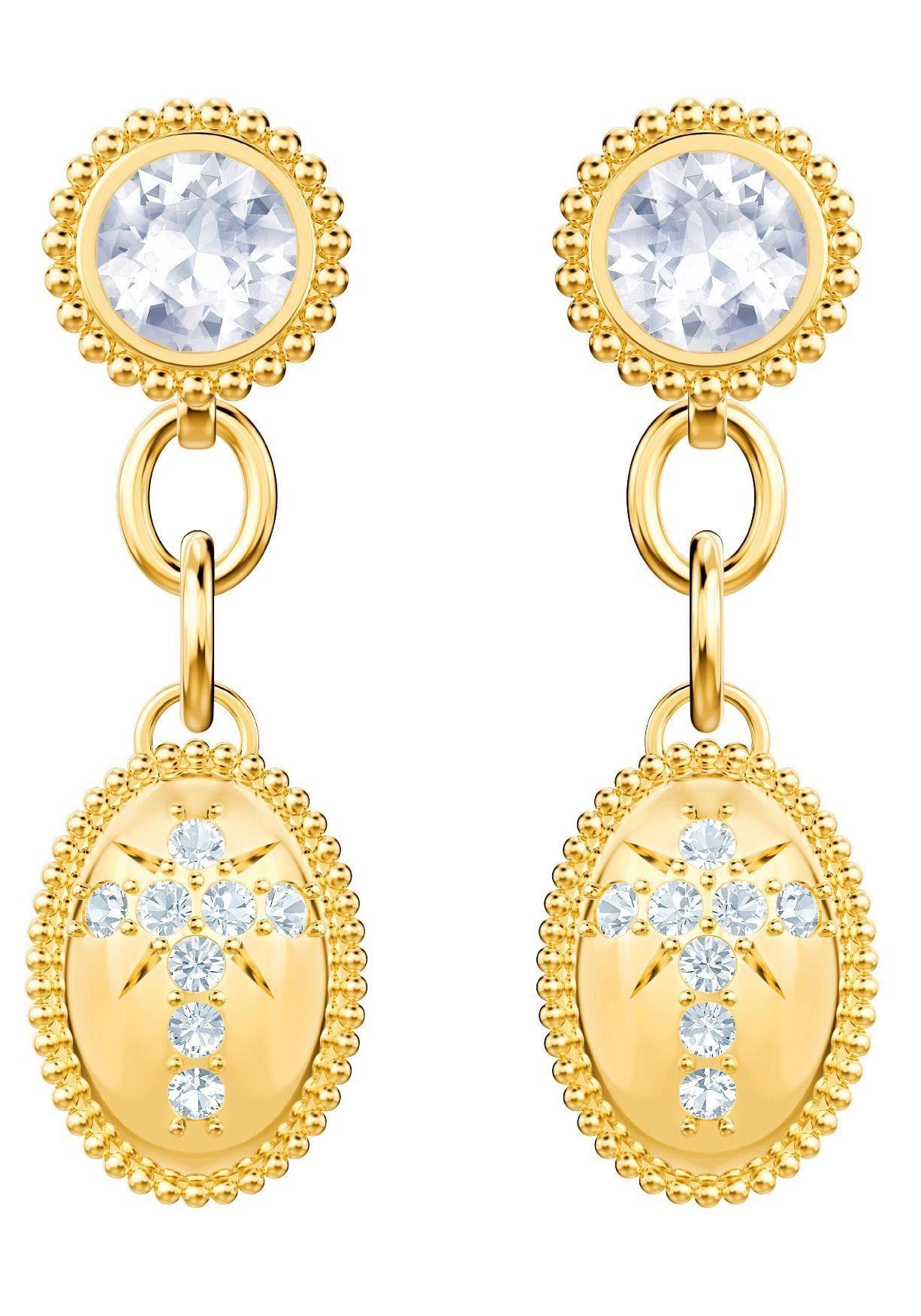 Swarovski Paar Ohrstecker »Magnetic Ohrringe, weiss, vergoldet, 5416776« mit Swarovski® Kristallen