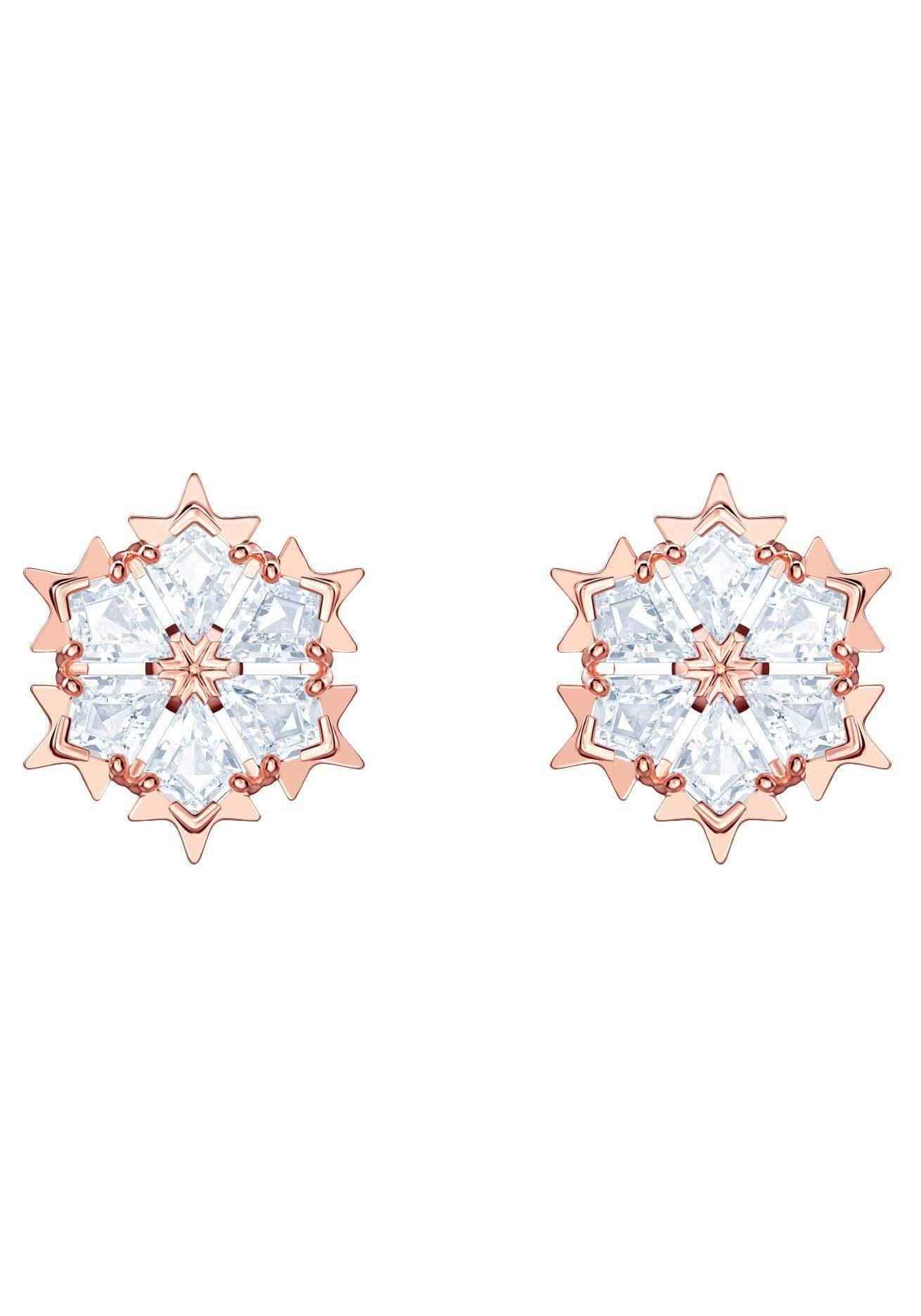 Swarovski Paar Ohrstecker »Magic Ohrringe, weiss, rosé Vergoldung, 5428429« mit Swarovski® Kristallen