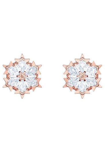 Swarovski Paar Ohrstecker »Magic, weiss, rosé Vergoldung, 5428429« mit Swarovski® Kristallen