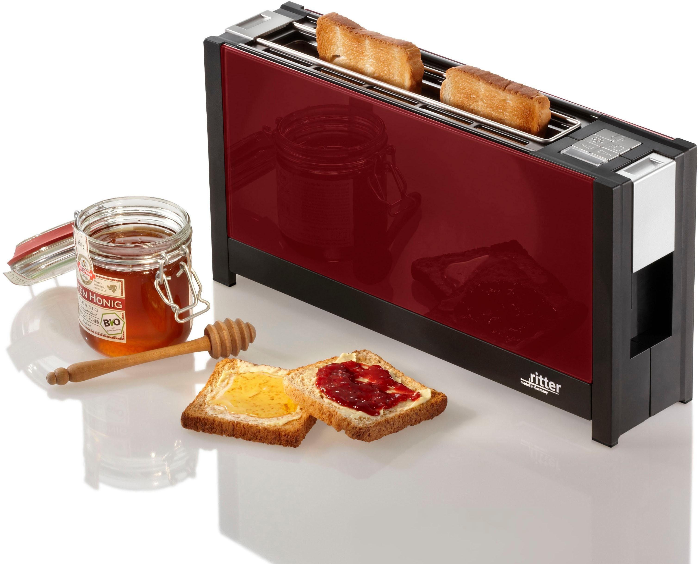 Ritter Toaster volcano 5 rot, 1 langer Schlitz, für 2 Scheiben, 950 W