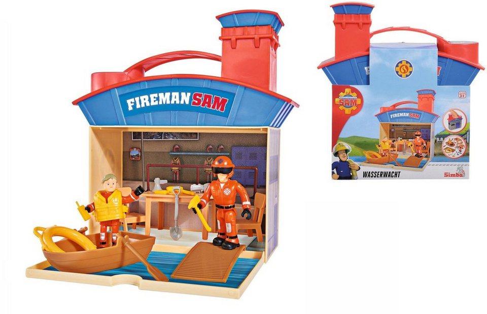 Simba Spielset mit beweglichen Figuren,  Feuerwehrmann Sam, Wasserrettungsset mit 2 Figuren  online kaufen