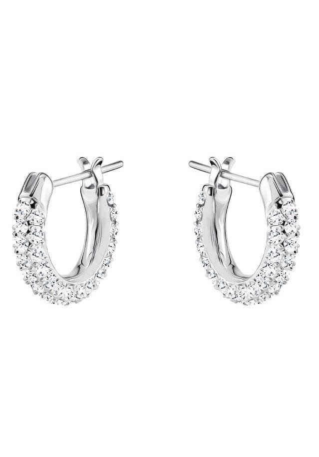 Swarovski Paar Creolen »Stone, klein, weiss, rhodiniert, 5446004«, mit Swarovski® Kristallen