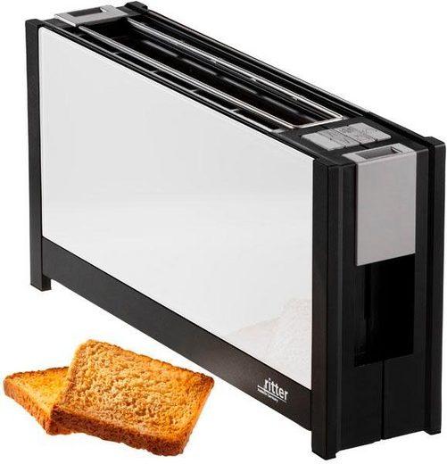 Ritter Toaster volcano 5 weiß, 1 langer Schlitz, 950 W