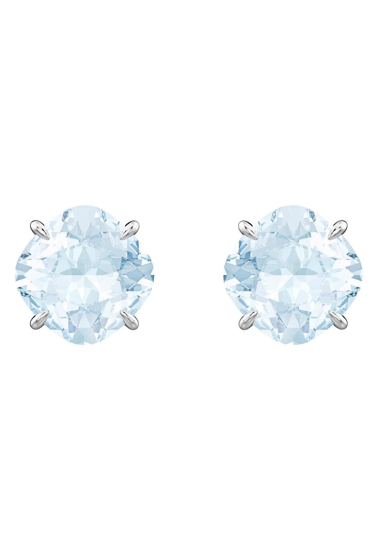 Swarovski Paar Ohrstecker »Mix Ohrringe, blau, rhodiniert, 5427950« mit Swarovski® Kristallen