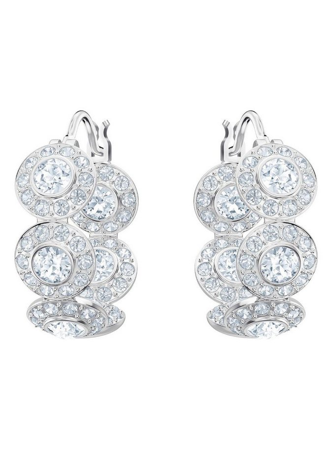 Swarovski Paar Creolen »Angelic Kreolen, weiss, rhodiniert, 5418269« mit Swarovski® Kristallen | Schmuck | Swarovski