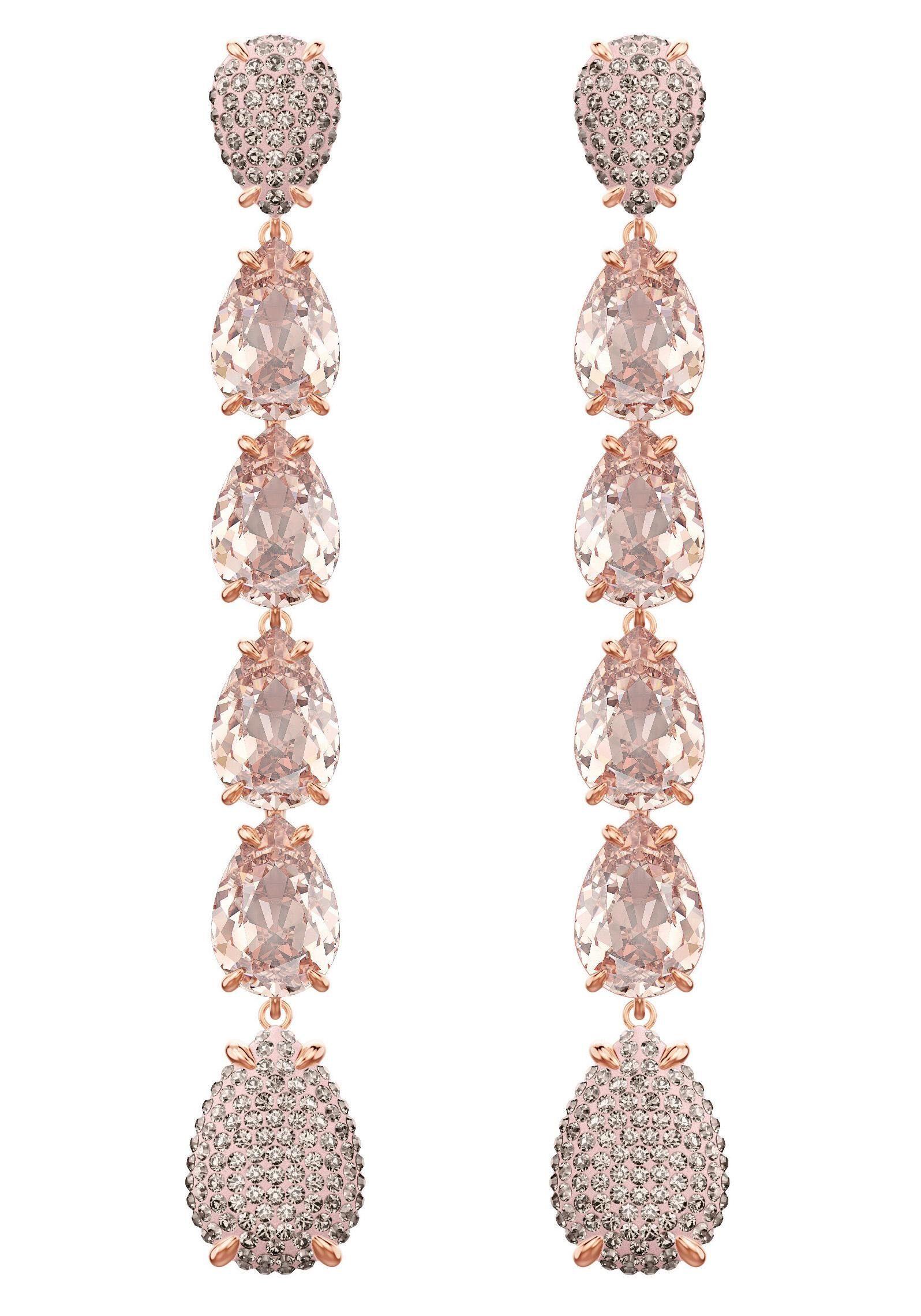 Swarovski Paar Ohrstecker »Mix Ohrringe, rosa, rosé Vergoldung, 5427953« mit Swarovski® Kristallen
