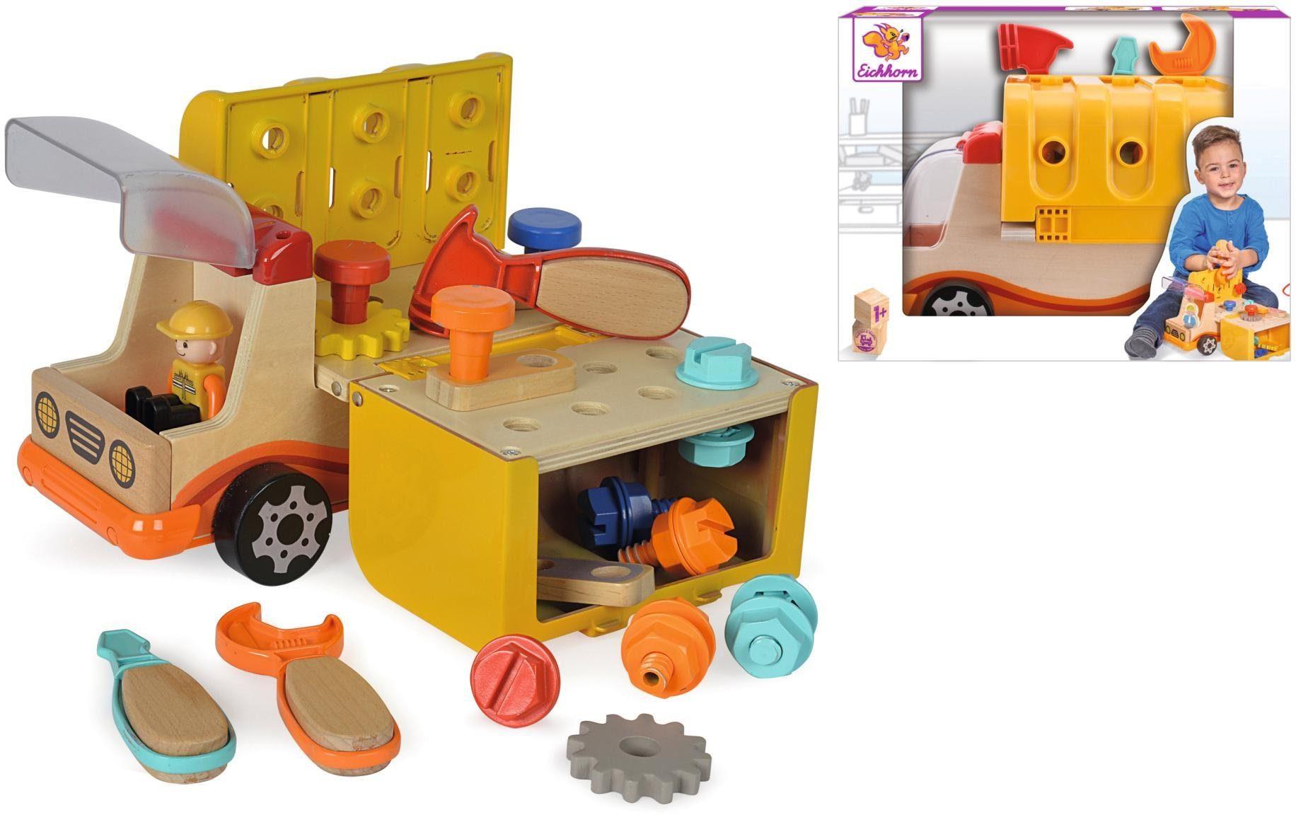 Eichhorn Spielfahrzeug, »2-in-1 Werkzeug LKW und Werkbank«