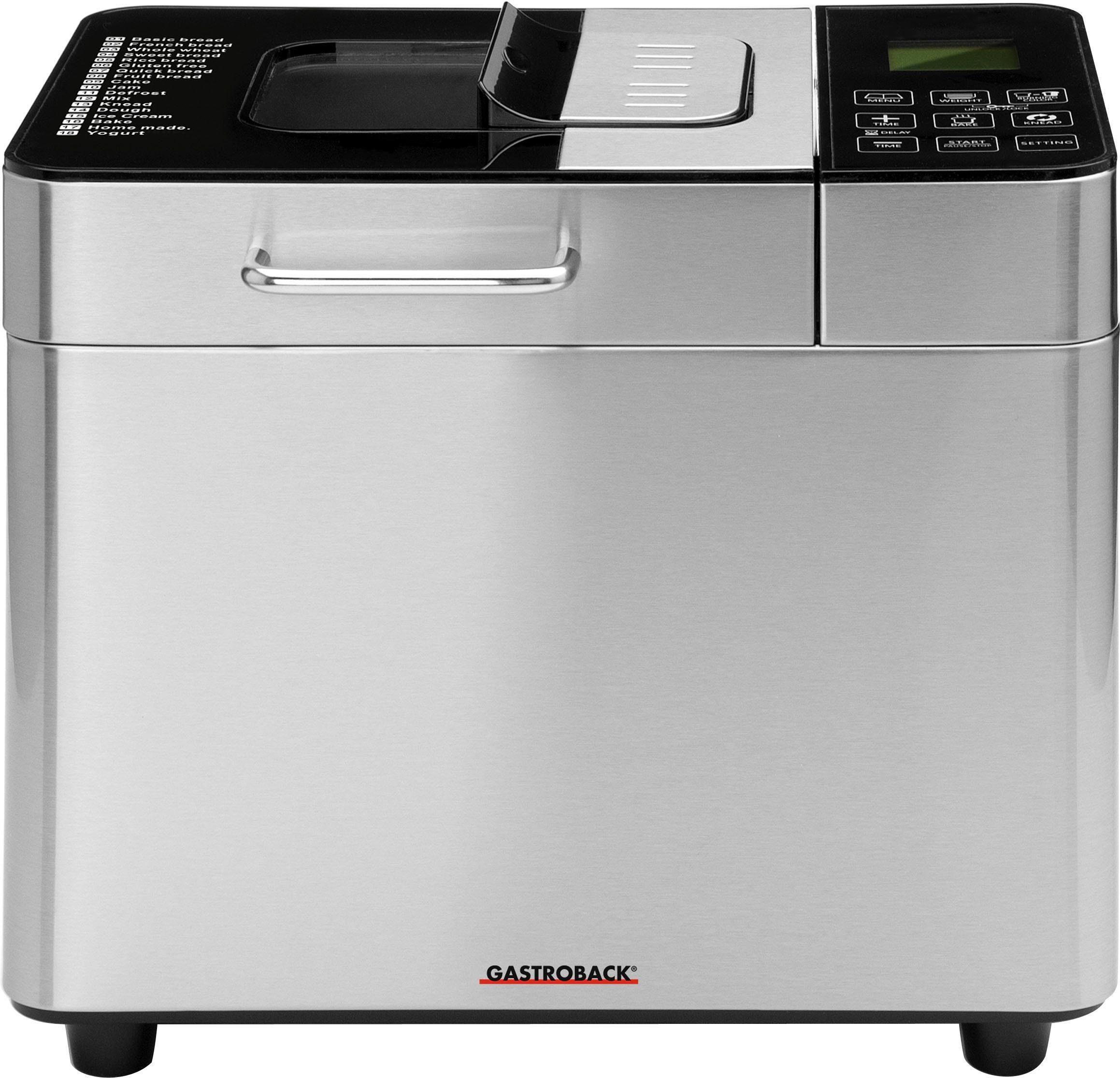 Gastroback Brotbackautomat 42823 Advanced, 18 Programme, 550 W