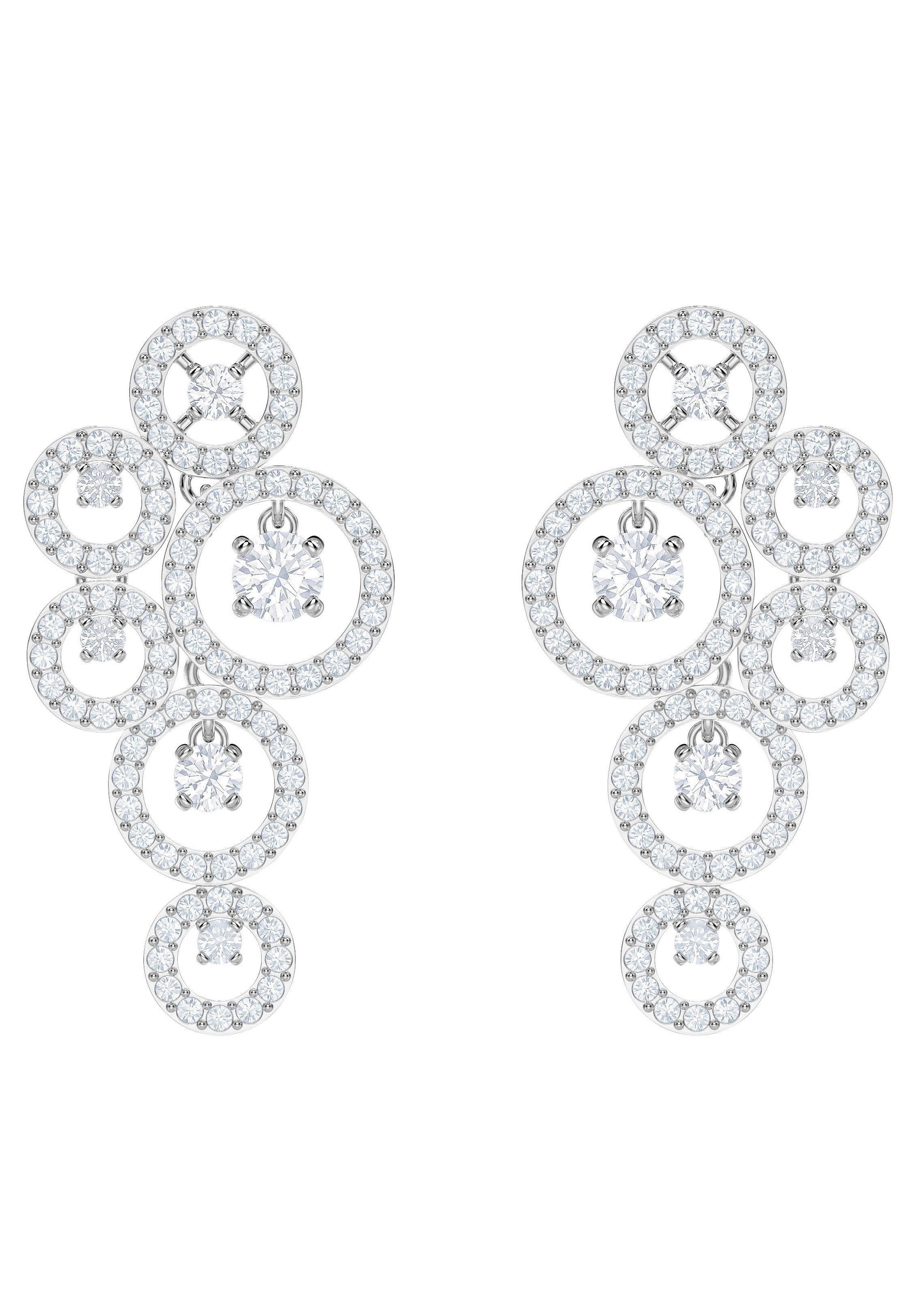 Swarovski Paar Ohrstecker »Creativity Ohrringe, weiss, rhodiniert, 5414713« mit Swarovski® Kristallen