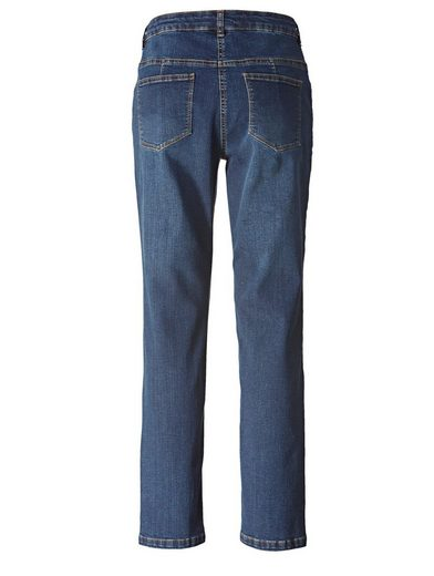 Janet & Joyce by Happy Size Slim Fit Jeans knöchellang mit Stickerei