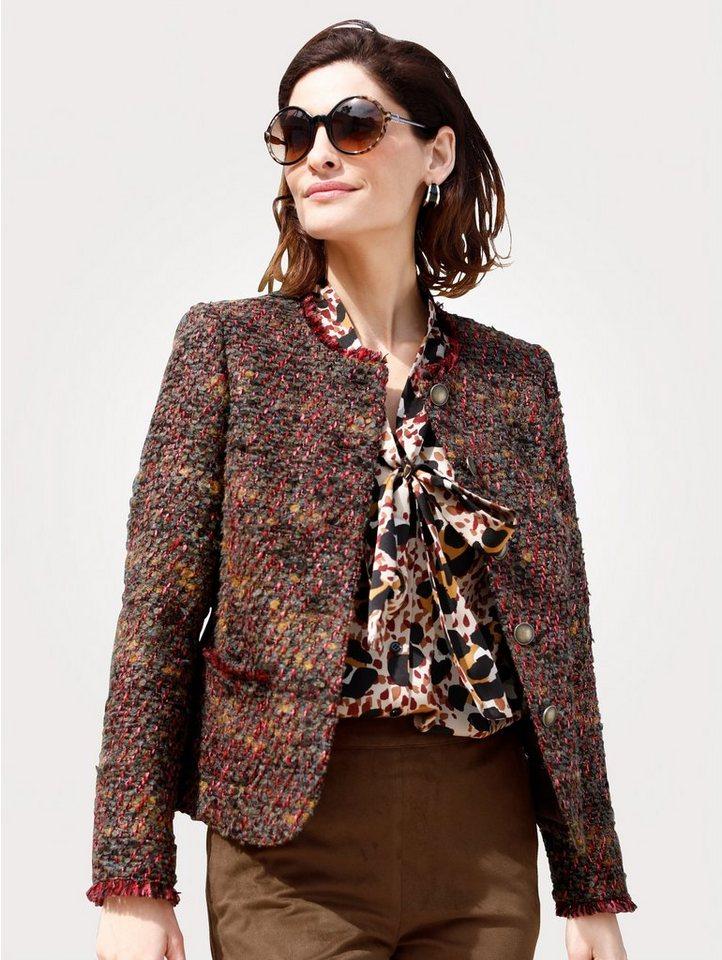 Damen Mona Blazer aus hochwertigem Bouclé braun | 04055717247756