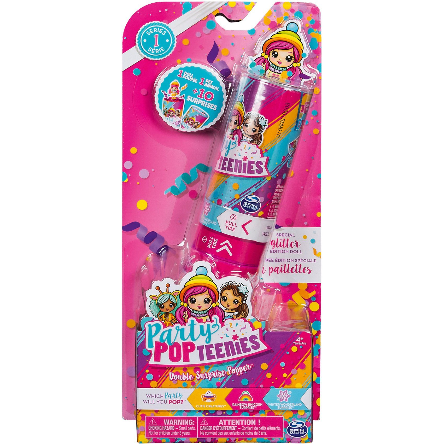 Spin Master Party PopTeenies Double Surprise Poppers