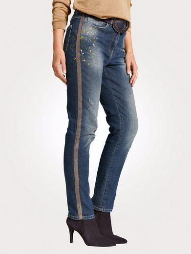 Mona Jeans mit Zierband