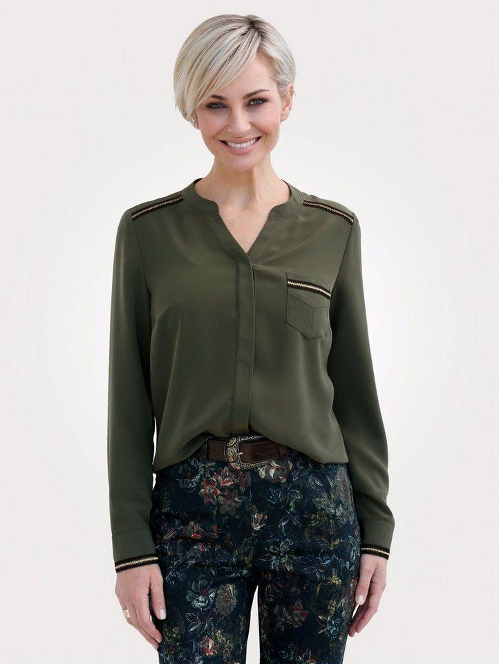 1bf4b0c5d8 Mona Bluse mit Glanzgarn-Verzierung online kaufen   OTTO