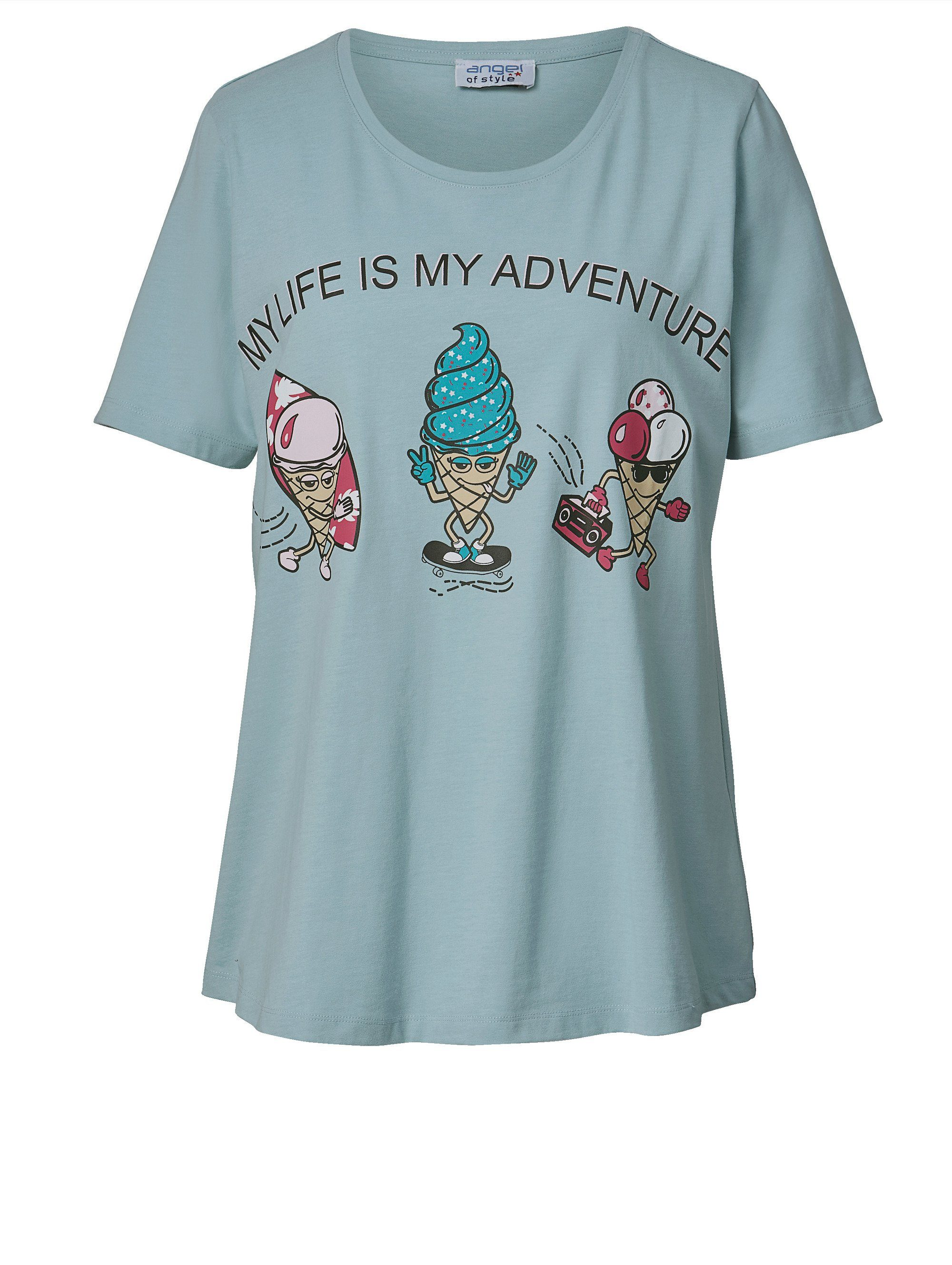 Angel of Style by Happy Size Shirt mit Statement-Print